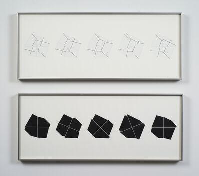 Manfred Mohr, 'P-308c-BL / P-308c-WH', 1980