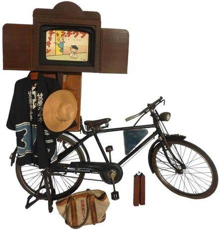 "'Kamishibai bike equipped with ""butai""', c. 1930s"