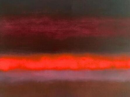 Paul Hughes, ' 'Rising Orange Purple', from 'Somewhere Between Two Worlds' series', 2019