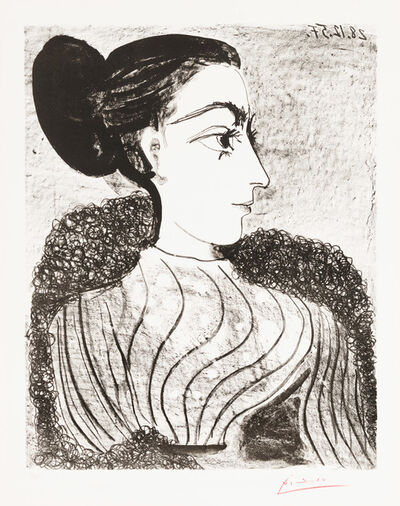 Pablo Picasso, 'Woman with Bun, State I', 1957