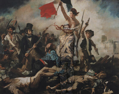 Liu Bolin, 'Hiding in the City - Paris - 10 - Liberty leading the people', 2013