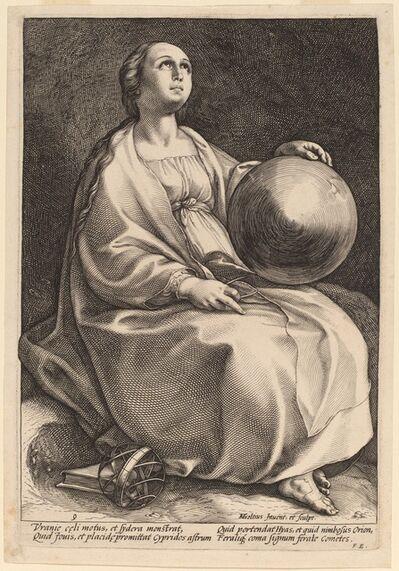 Hendrik Goltzius, 'Urania', probably 1592