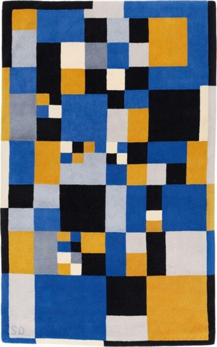 Sonia Delaunay, 'Carrés Magique carpet in virgin wool', vers 1980
