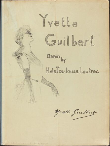 Henri de Toulouse-Lautrec, 'Cover, Yvette Guilbert', 1898