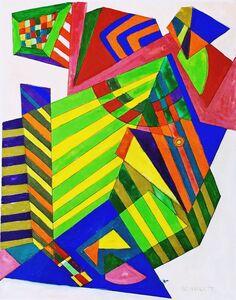 Rolph Scarlett, 'Untitled Mid-Century Modern Geometric Abstraction ', ca. 1950
