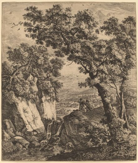 Anthonie Waterloo, 'Landscape with Tobias and the Angel'