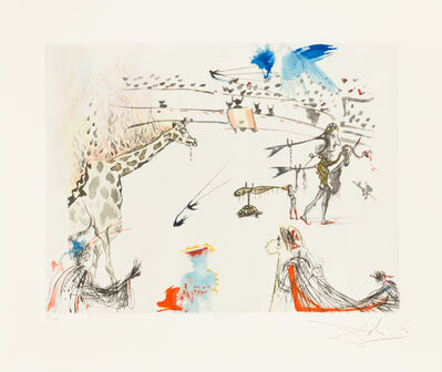 Salvador Dalí, 'The Giraffe on Fire', 1966