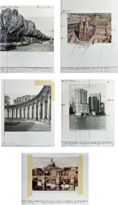 Christo and Jeanne-Claude, 'Five Urban Projects', 1985