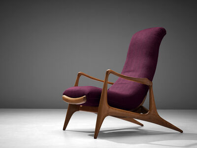 Vladimir Kagan, 'Vladimir Kagan for Dreyfuss Reclining 'Contour' Lounge Chair', 1950s