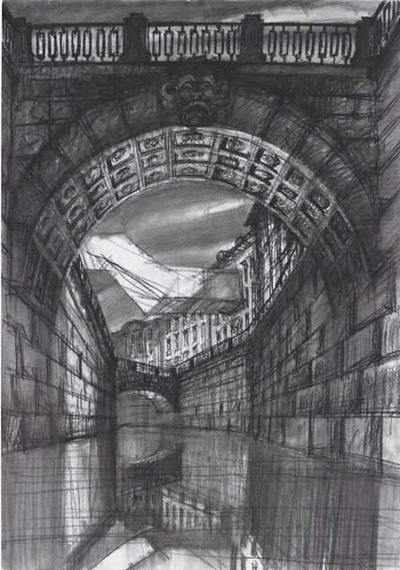 Sergei Tchoban, 'Architectural contrasts 1. Bridge', 2015
