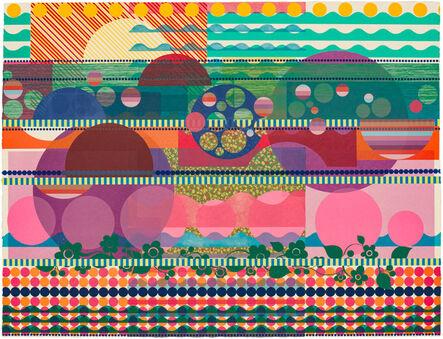 Beatriz Milhazes, 'Purple Dahlia', 2015