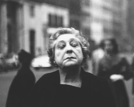 Diane Arbus, 'Woman on the street with her eyes closed, N.Y.C.', 1956