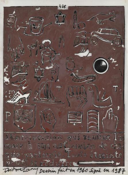 Isidore Isou, ' 436', 1960