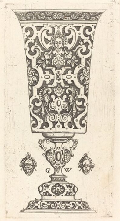 Georg Wechter I, 'Goblet decorated with masque', published 1579