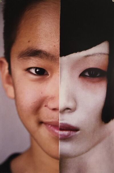 Emily Cheng, 'Faces, Vintage Color Photograph Digital Photo Collage Print Asian American', 1990-1999