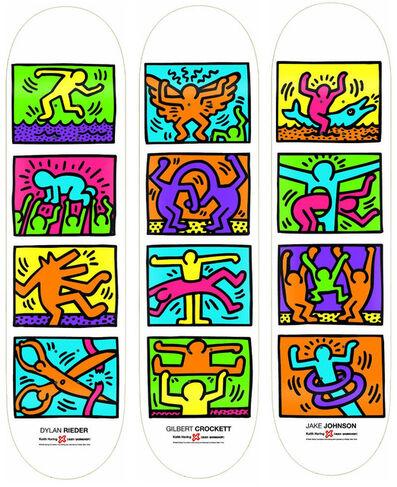 Keith Haring, 'Retrospective (set of 3 skateboards)', 2013