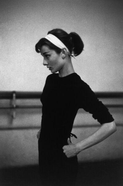 """David Seymour, 'Audrey Hepburn filming """"Funny Face"""" (Paris, France)', 1956"""