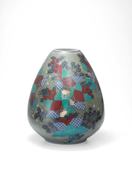 Imaizumi Imaemon XIV, 'Vase with Zuika (Mullein) Flower Patterns', 2013