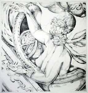 Holly Trostle Brigham, 'T. de Lempicka on Autopilot (black ink)', 2011