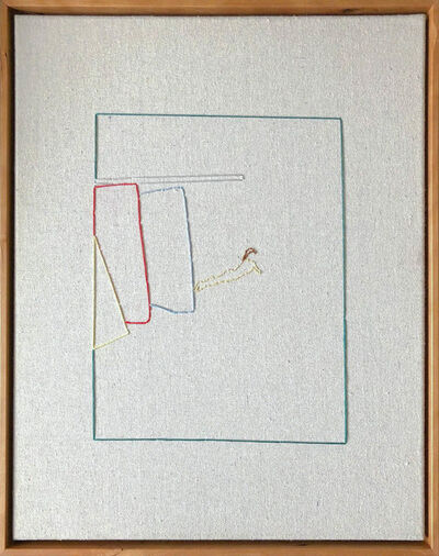 Casey Waterman, 'Lawn - hand Stitched Canvas, Framed on Cherrywood ', 2018