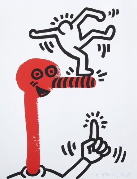 Keith Haring, 'The Story of Red and Blue (#1)', 1990