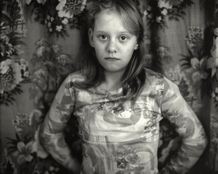 """Sally Mann, 'Untitled from the """"At Twelve"""" Series, Cindy in front of Curtain', 1983-1985"""