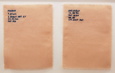 Gudrun Hasle, 'Pink Slip #3 (Logbook Of Nigatif Thorts)', 2017