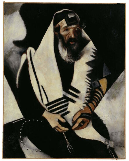 Marc Chagall, 'Jew in Black and White', 1914