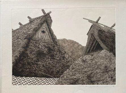 Ryohei Tanaka, 'Miyama Roofs', 1982
