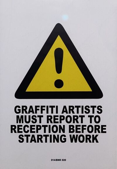 Banksy, 'Report To Reception', 2004