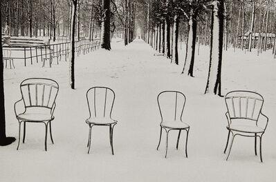 Martine Franck, 'Snow in Jardin des Tuileries', 1978