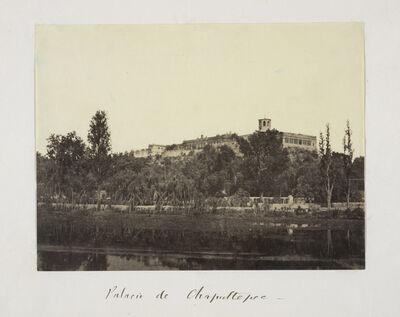Claude Joseph Désiré Charnay, 'Palacio de Chapultepec', 1858