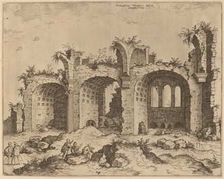 Hieronymus Cock, 'The Basilica of Constantine', probably 1550
