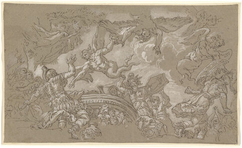 Johann Carl Loth, 'The Harpies Attacking Aeneas and His Companions', 1670s/1680s