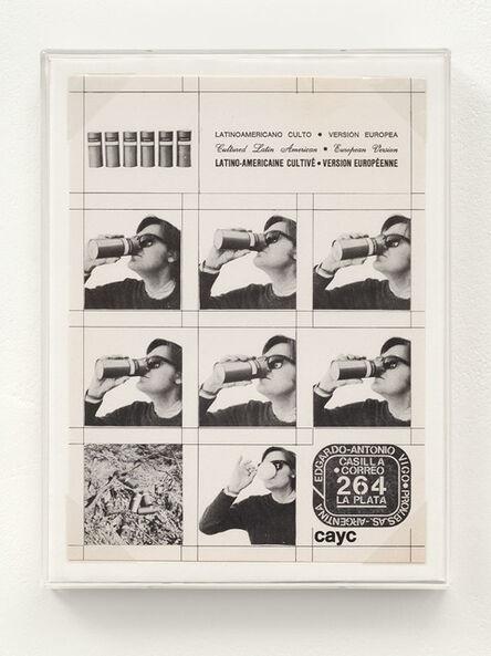 Edgardo Antonio Vigo, 'Latin American Cult - European version', 1975