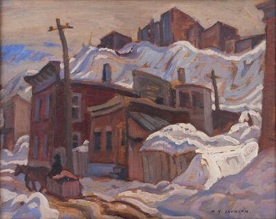 A. Y. Jackson, 'Street in Quèbec', ca. 1935