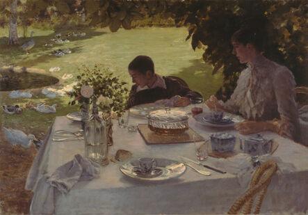 Giuseppe De Nittis, 'Colazione in giardino', 1884