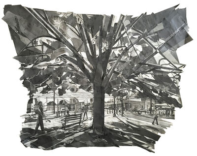 Mark Lewis (b.1959), 'Tree, 6th and Peoria (Park)', 2017