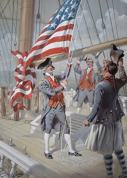 Henry A. Ogden, 'Raising the Flag Over a Colonial Ship'