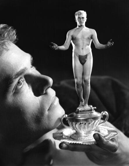 Bob Mizer, 'Gustaf Holmes (With Trophy), Los Angeles', 1951