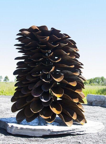 Floyd Elzinga, 'Segment - Fire Cone - large nature inspired corten steel outdoor sculpture', 2017