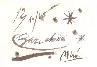 Joan Miró, 'untitled', 1968