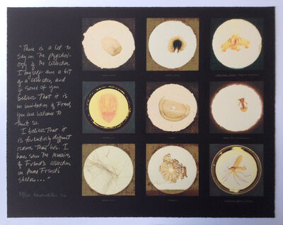Susan Hiller, 'After microscope slides found in Freud's collection and a quotation from Jacques Lacan', 1996