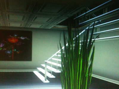 Sara Ludy, 'Interior with Plant and Floating Staircase', 2010