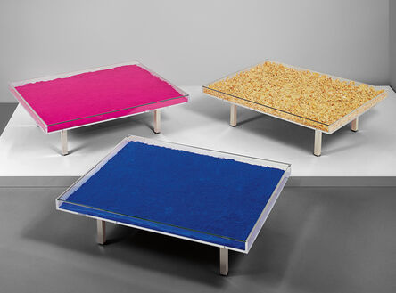 Yves Klein, 'Three works: (i) Table Bleue (ii) Table d'Or (iii) Table Rose', 1961
