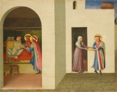 Fra Angelico, 'The Healing of Palladia by Saint Cosmas and Saint Damian', ca. 1438/1440