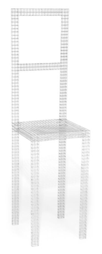 Robert Wilson (b. 1941), 'Robert Wilson Wire Mesh Hanging Freud Chair (from The Life and Times of Sigmund Freud)', 1969
