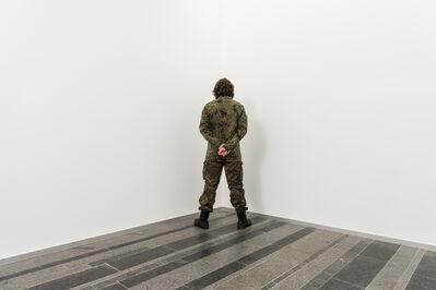 Santiago Sierra, 'Veterans of war facing the corner', 2017