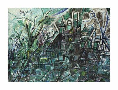 Francis Newton Souza, 'Houses on a Green Hill', 1964