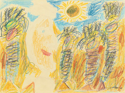 Jean Dubuffet, 'Arabe et palmiers sous le soleil', 1948